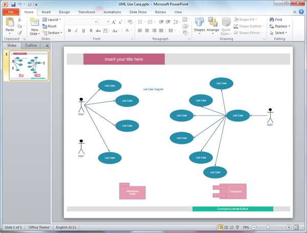 PowerPoint UML Diagram Template