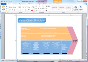 Word Value Chain Template
