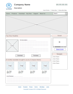 free website wireframe templates for word, powerpoint, pdf, Modern powerpoint