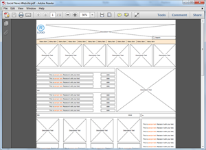 PDF-Website Wireframe-Vorlage
