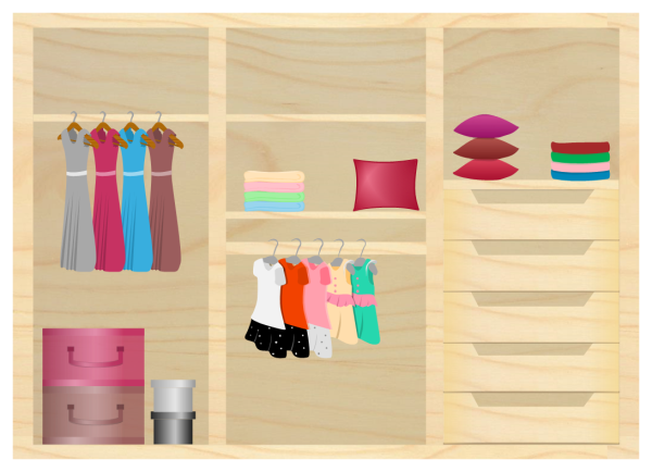 Wooden Wardrobe Design Template