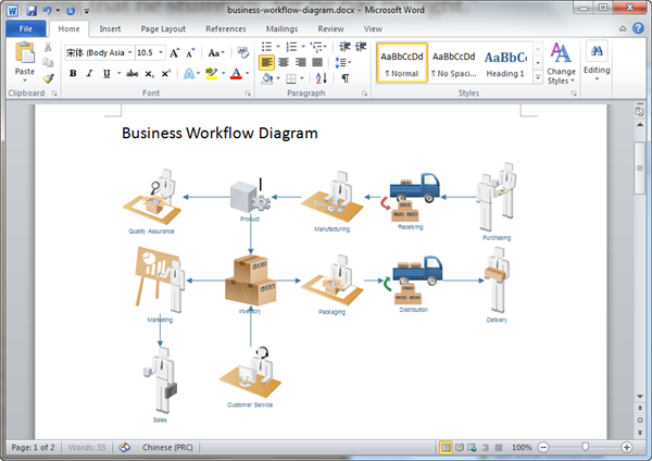 how to create er diagram in word