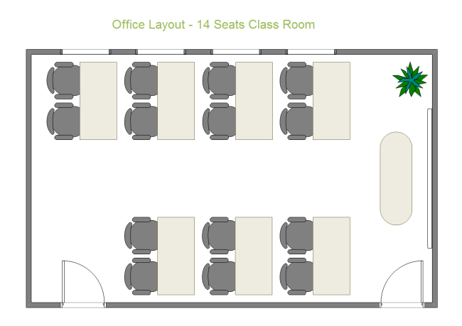 14 Seats Class Room Free 14 Seats Class Room Templates