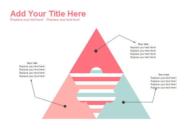 2D Segmented Stripe Pyramid Diagram