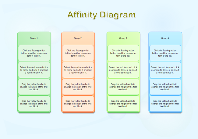 High Quality Affinity Diagram Template