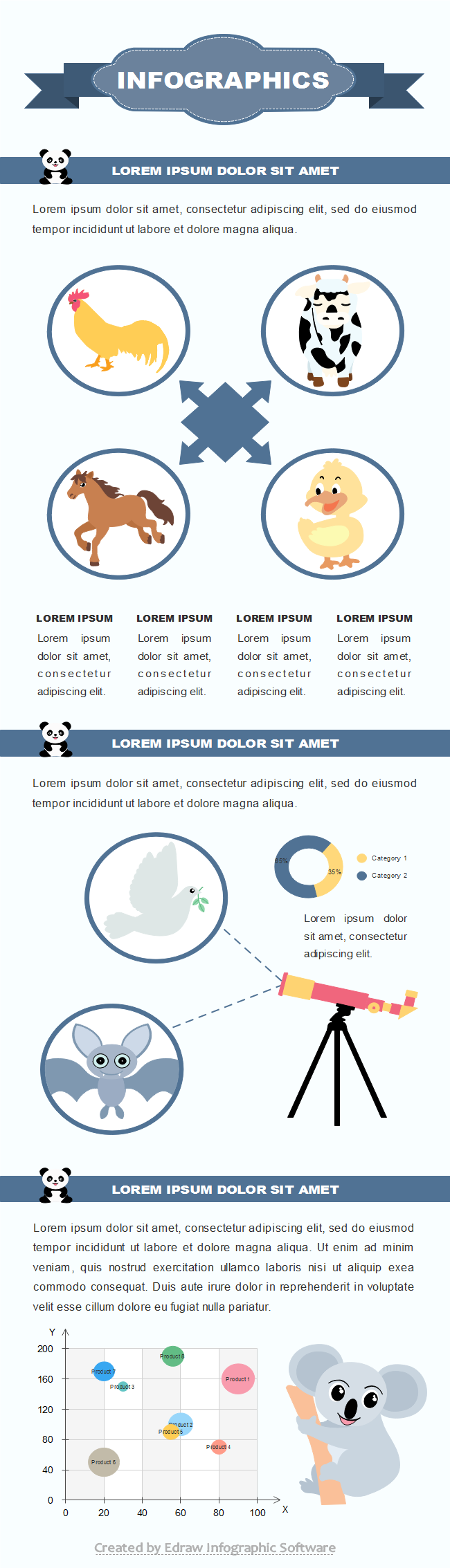 Animal Statistic Infographic Template