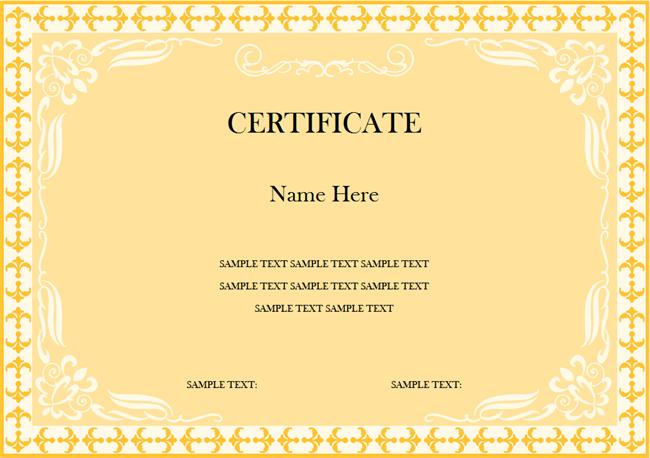 Award Certificate Free Award Certificate Templates