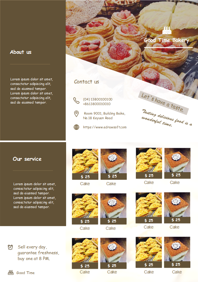 Bakery Shop Brochure