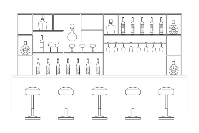 Bar Cabinet Elevation Free Templates