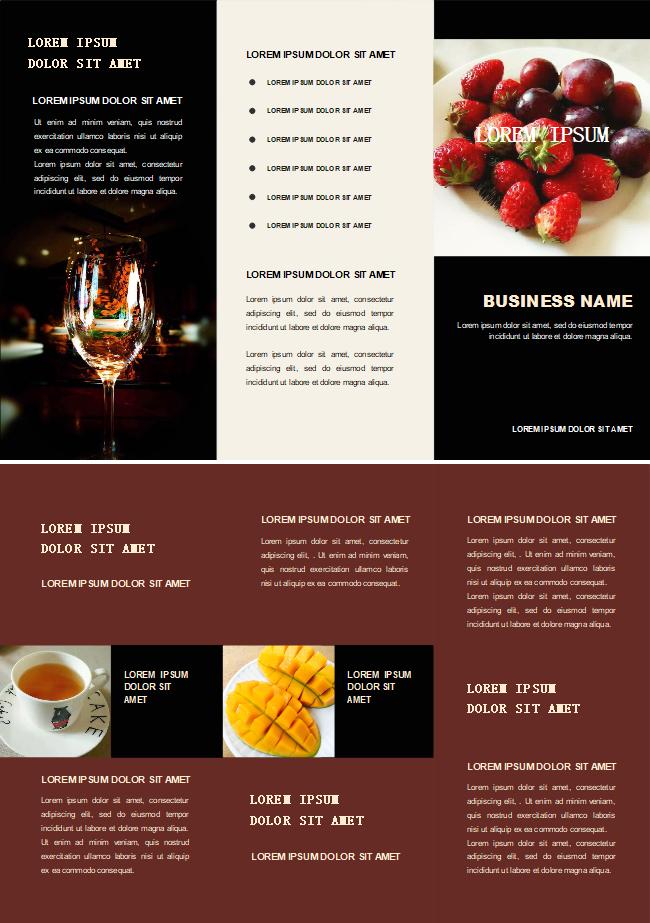 bar food brochure