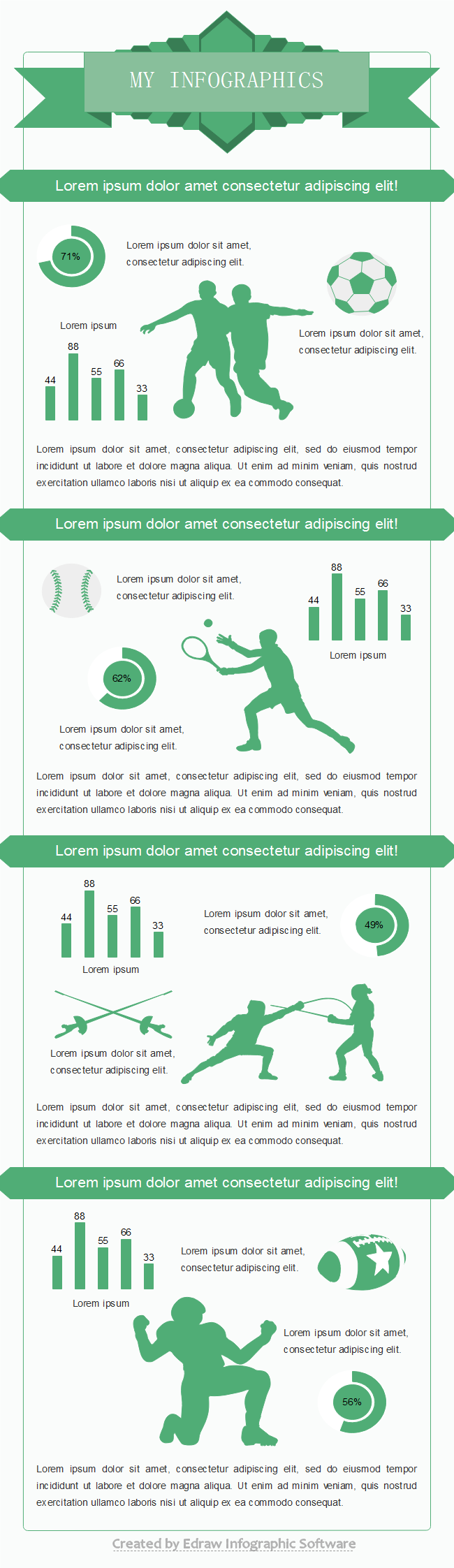 Download and reuse sports infographic templates for Sports infographics templates