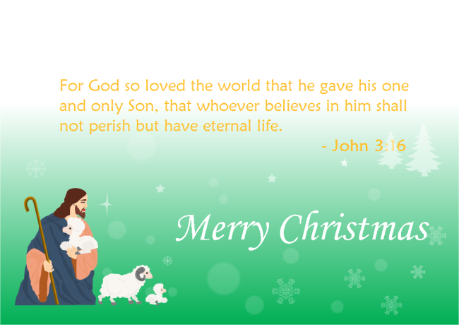 Bible Scripture Christmas Card