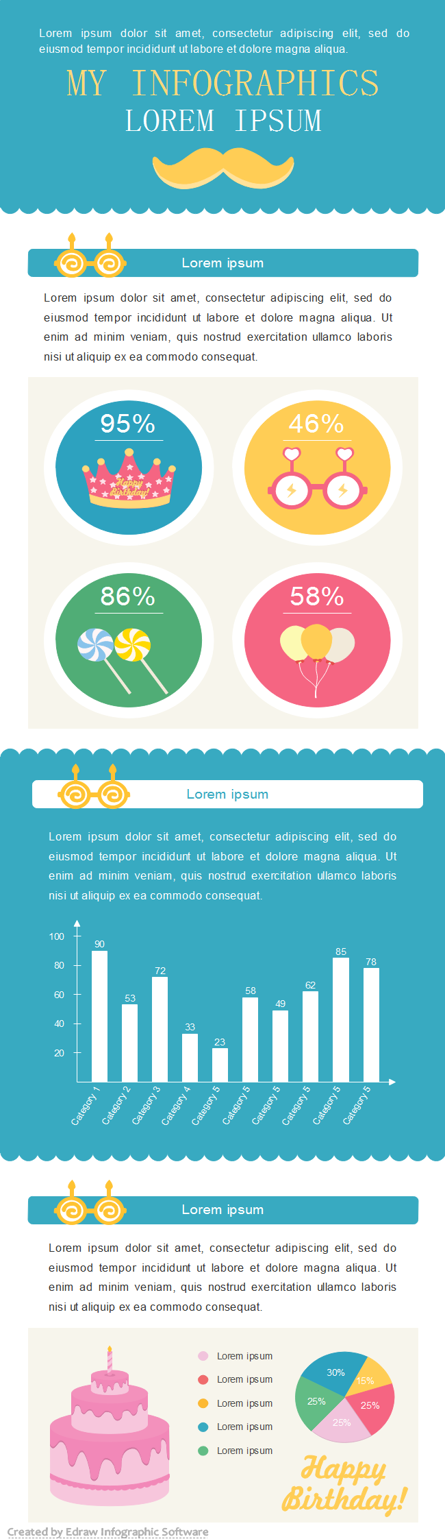 Birthday Statistic Infographic