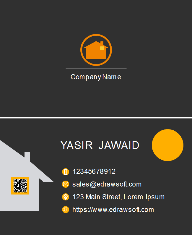 Orange House Business Card
