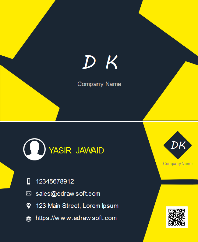 Yellow Blocks Business Card