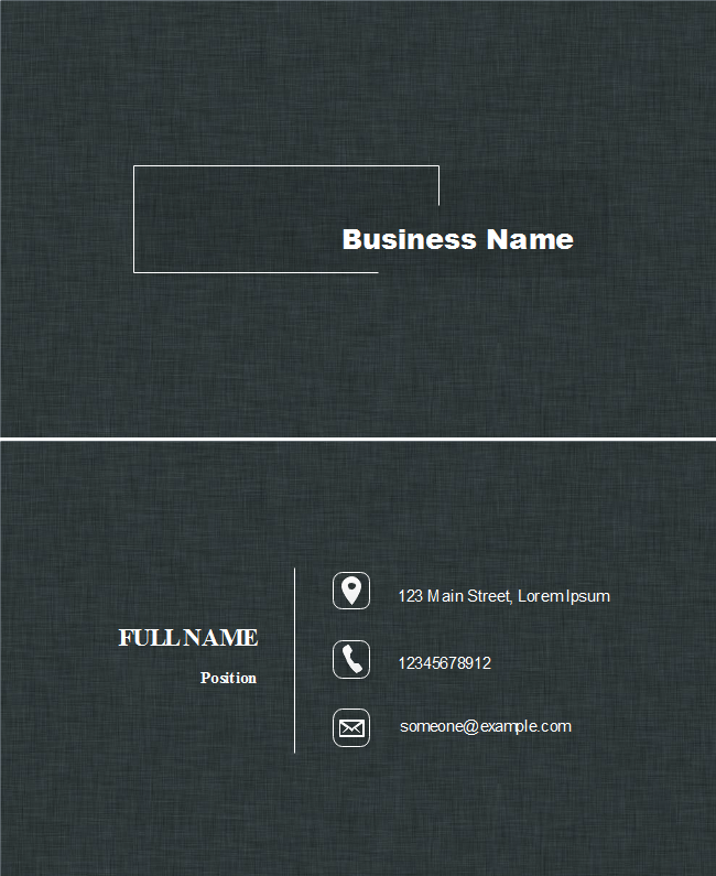 Black Jeans Background Business Card
