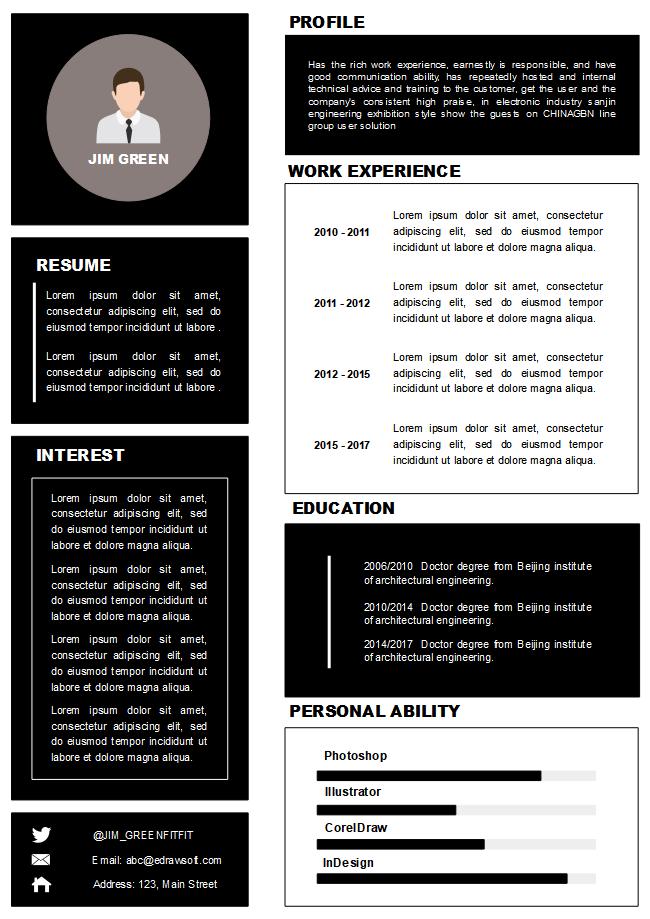 Free Blocks Infographic Resume Template