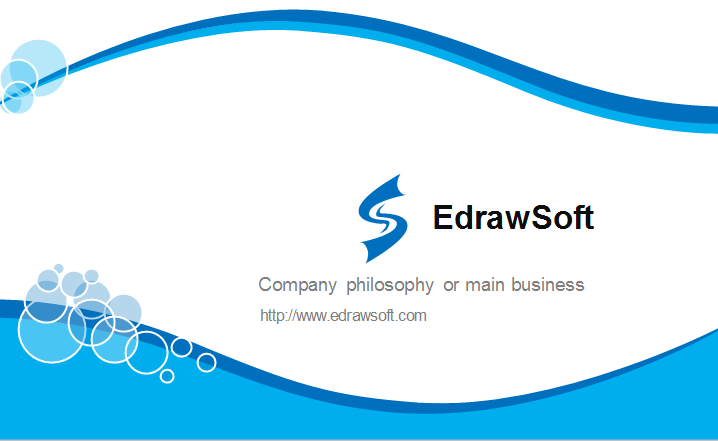 Blue Curve Business Card Template Back