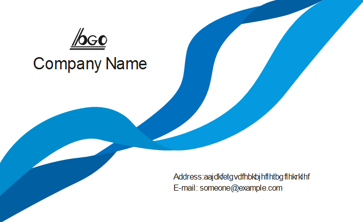 Blue Ribbon Business Card Back