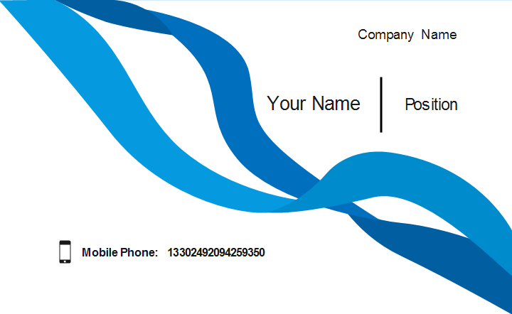 Blue Ribbon Business Card Template