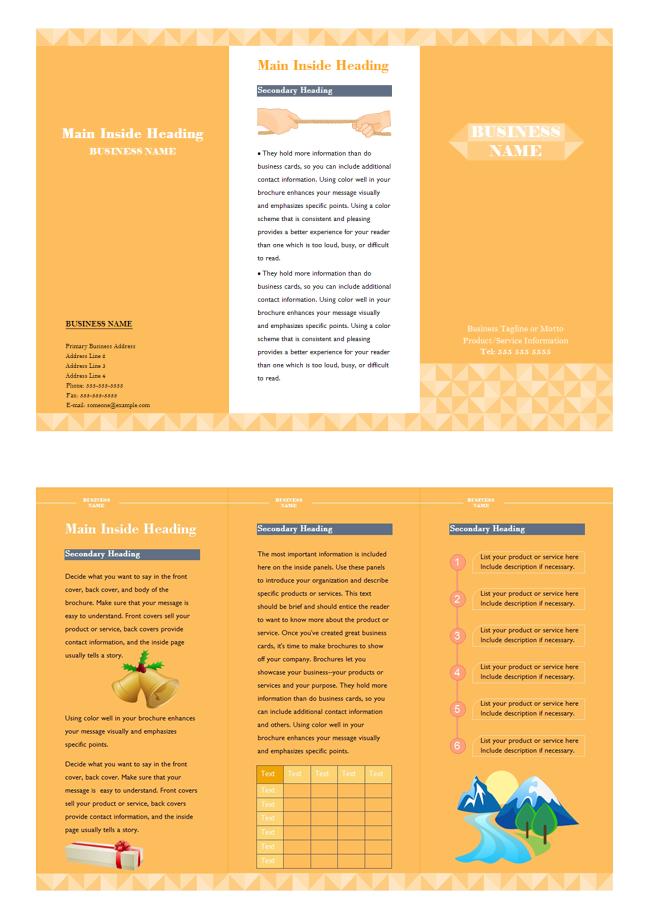 brochure description a free customizable