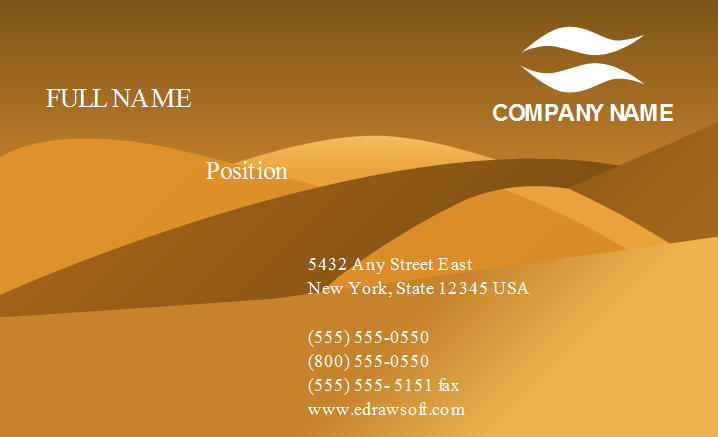 Brown Desert Business Card Template