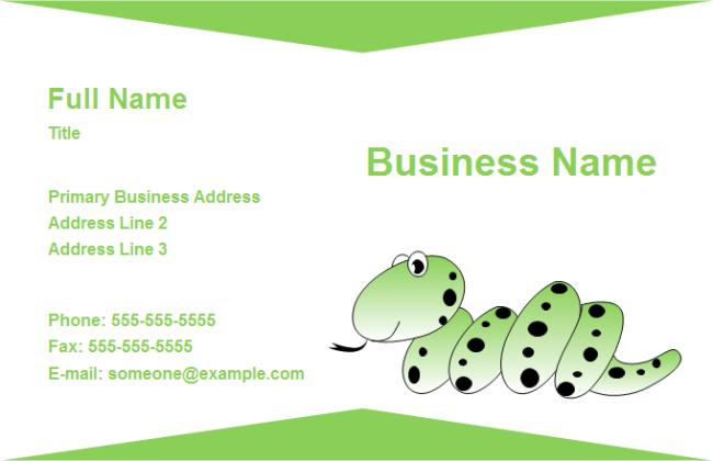 Business Card Animal