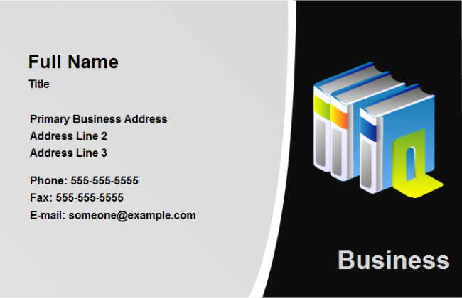 Business Card Education