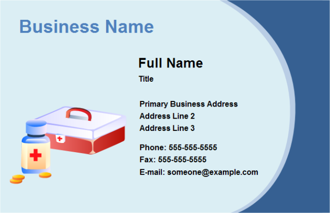 business card medical - Medical Business Cards