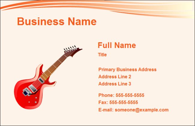 Business card music free business card music templates business card music cheaphphosting Images