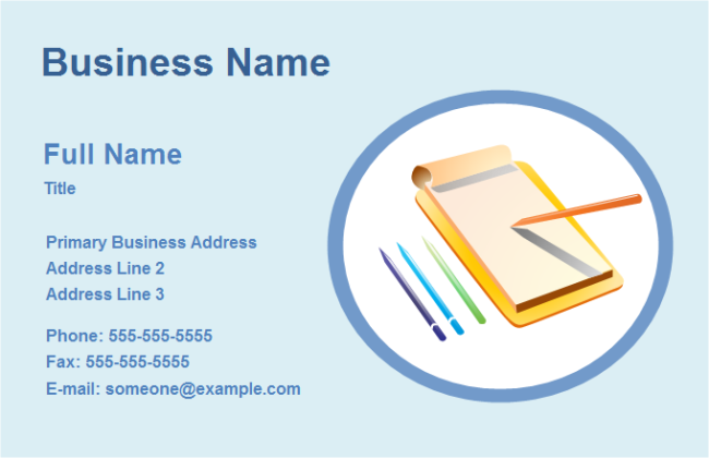 Business Card Office | Free Business Card Office Templates