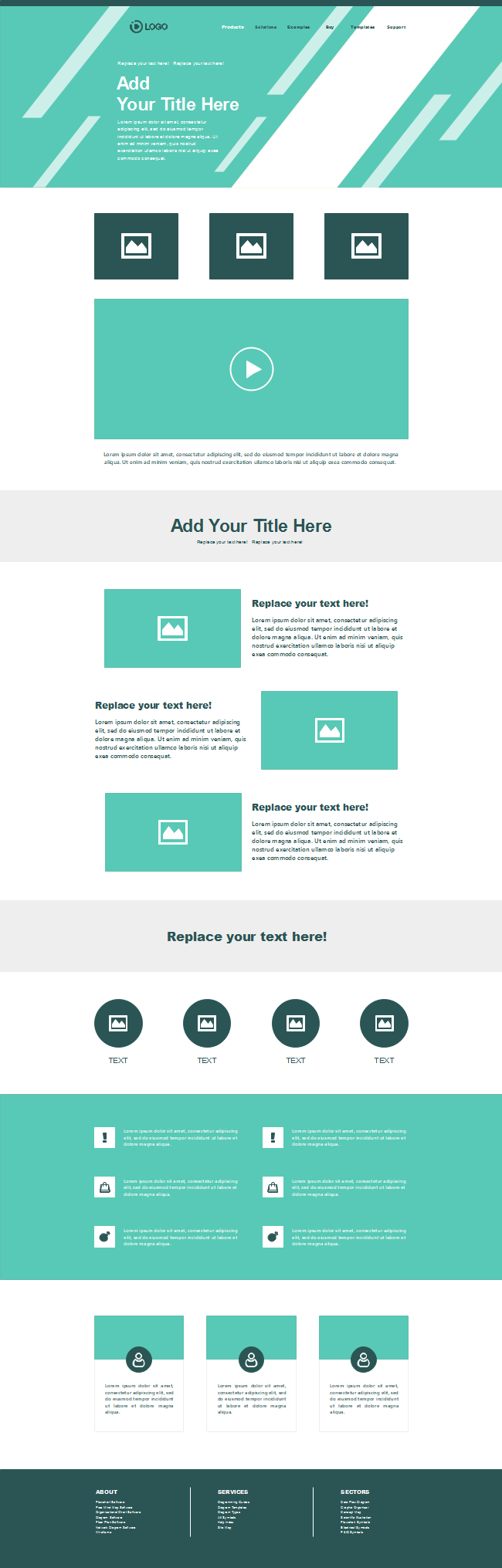 Business Style Website Wireframe