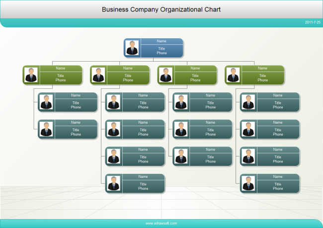 Business Firm Org Chart with Photos