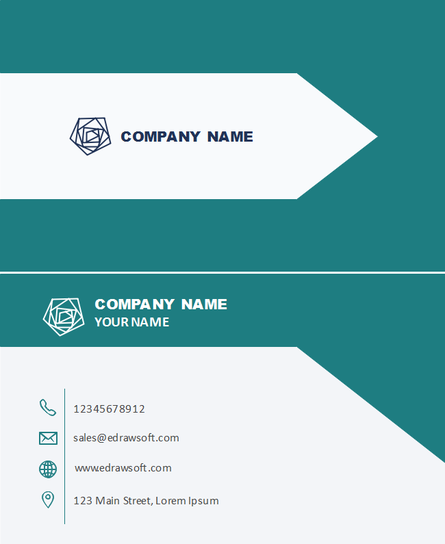 White Arrow Business Card
