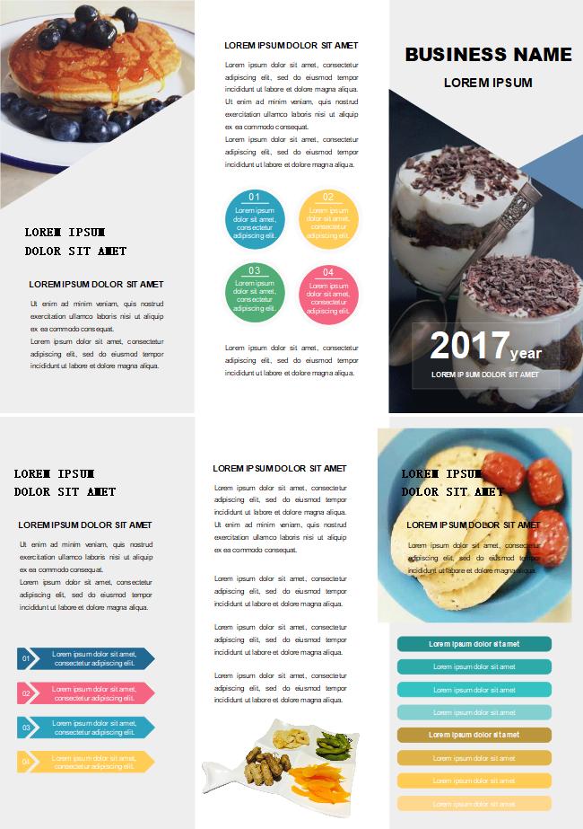 Cafe Food Brochure