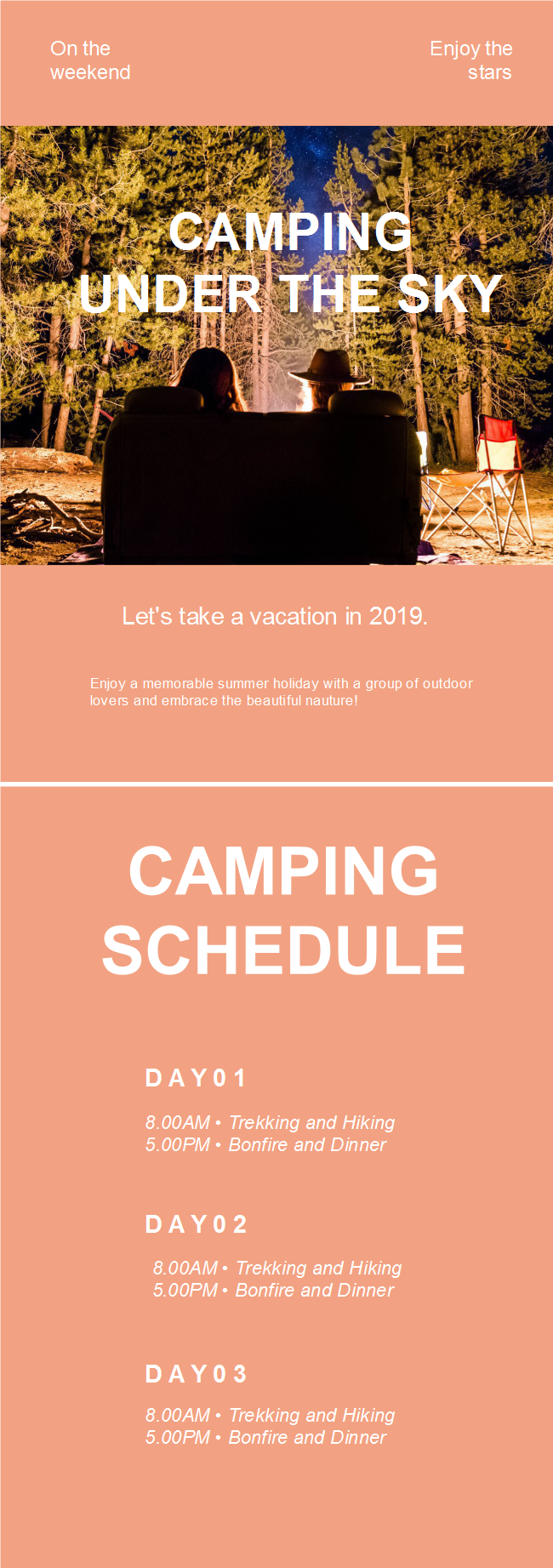 Camping Activity Flyer