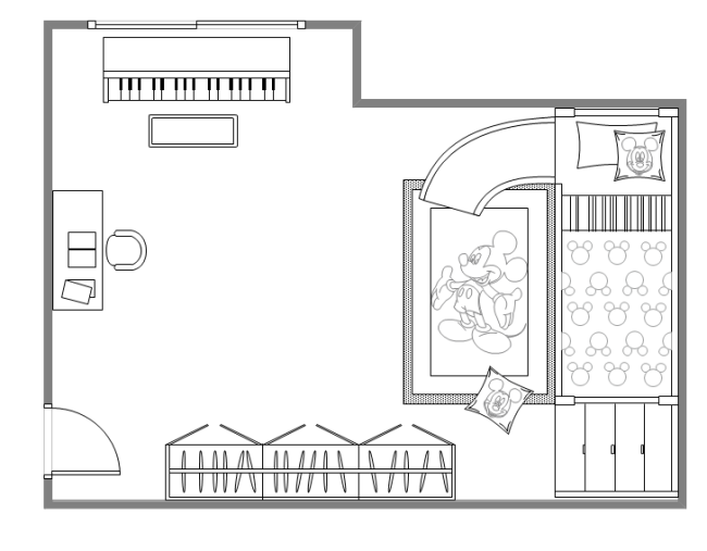 Kids Bedroom Drawing children bedroom plan | free children bedroom plan templates