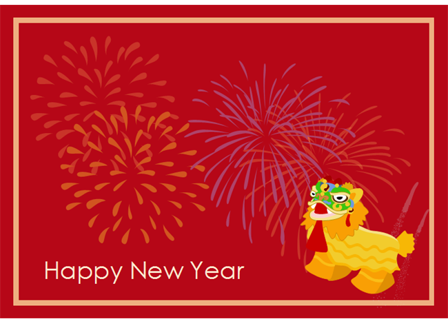 New year card examples and templates chinese new year card 2 m4hsunfo