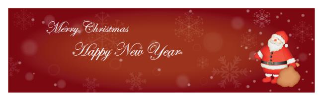 Banner für Weihnachtskarte