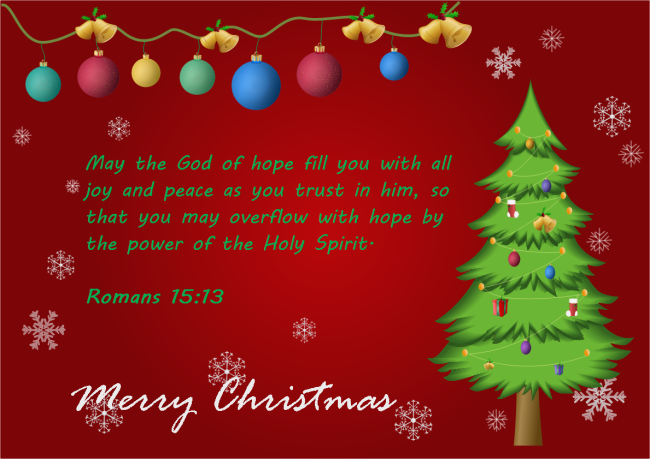 Christmas Card with Bible Quote