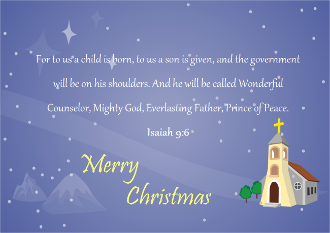 Bible Saying Christmas Card