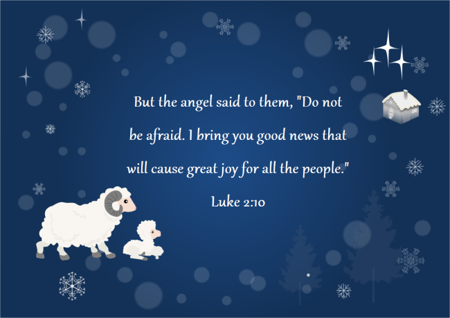 Christmas Card with Bible Verse