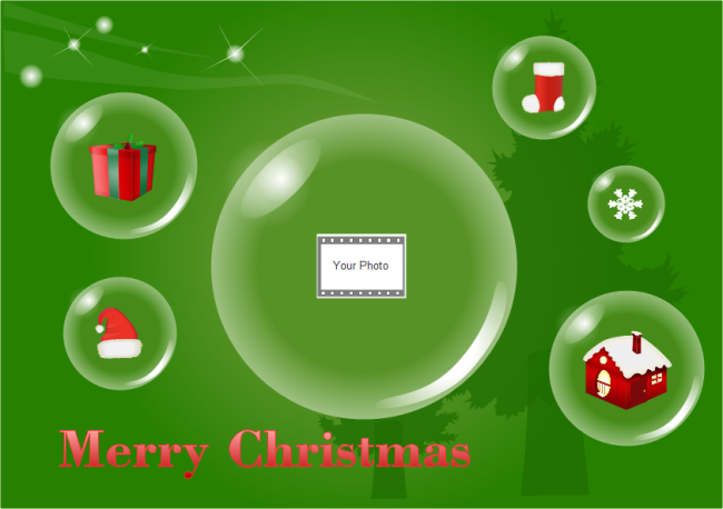 Christmas Card Bubble Photo