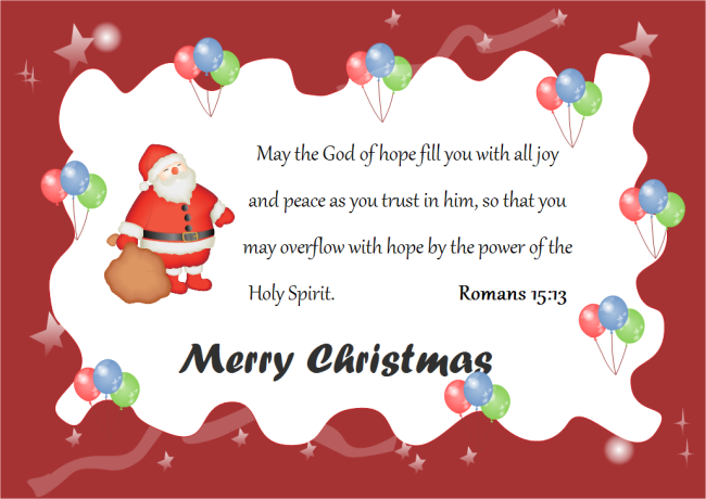Christmas Card God Words | Free Christmas Card God Words Templates
