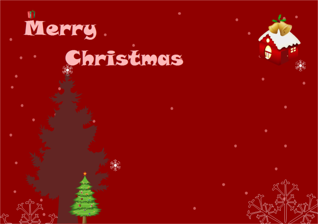 Christmas Card  Free Xmas Card Template