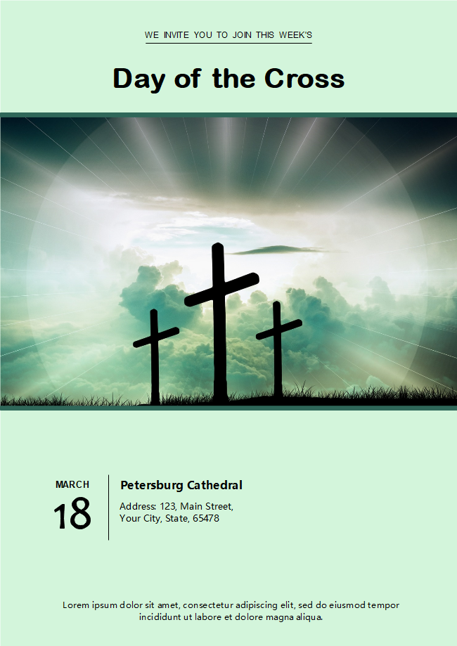 Church Easter Day Flyer