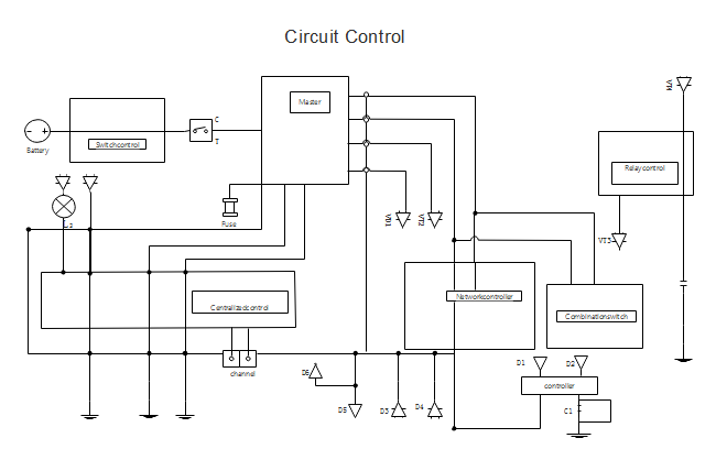 circuit control wiring diagram software draw wiring diagrams with built in symbols How to Draw a Wiring Diagram ECE at fashall.co