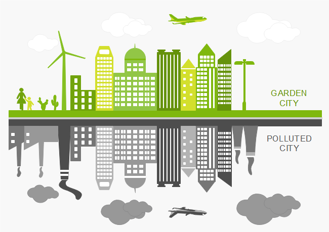 City Pollution Infographic