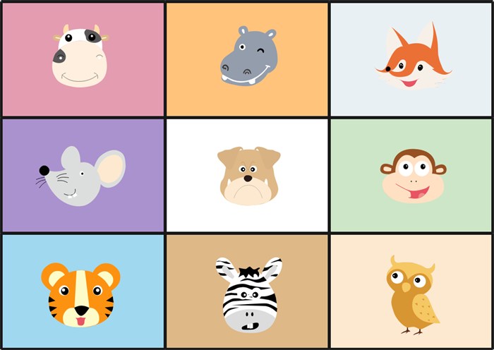 Decorative animal head photo collage