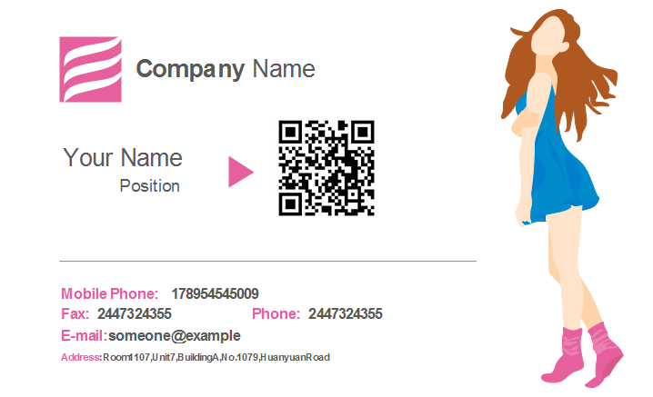 Clothing Industry Business Card Template